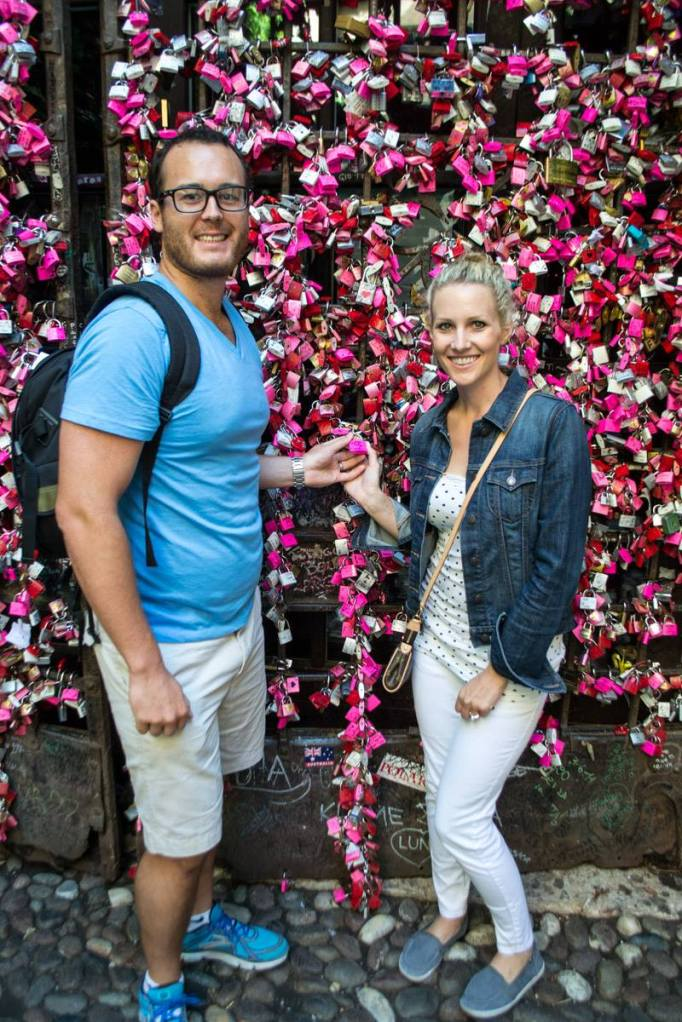 In Verona, vising Romeo & Juliet
