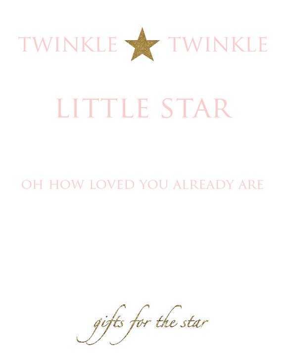 twinkle twinkle - gift table - For Blog