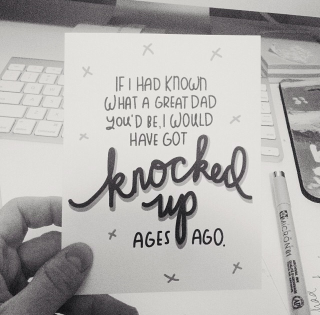 Hilarious and cute card for your baby daddy