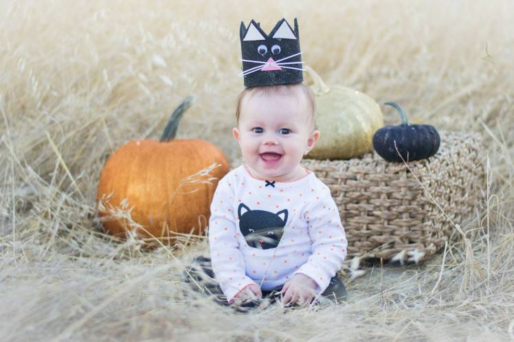 Harlow during Halloween season last year (2013)